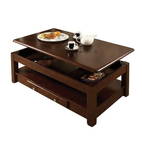 Nelson Lift Top Cocktail Table Cherry - Steve Silver $221