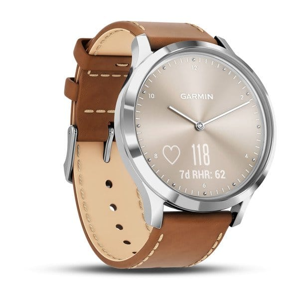 vívomove® HR, Premium, Rose Gold Case with Gray Suede Band (One Size Fits Most) $280