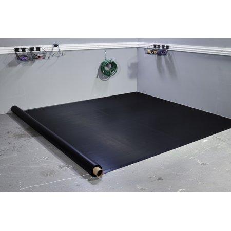 G-Floor 55 Mil Ribbed 8.5'x22' Midnight Black Parking Pad Garage Floor Cover/Protector $190