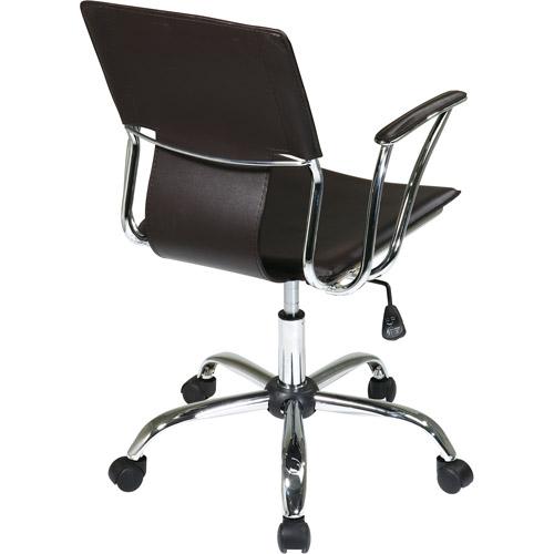 Dorado Leather Office Chair,Black $85
