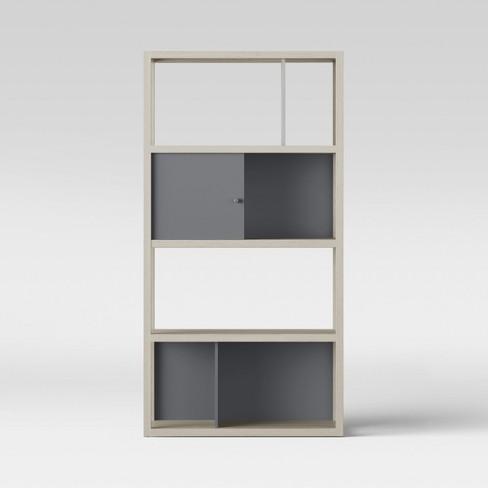 "65.9"" Siebert 4 Shelf Vertical Bookcase White - Project 62™ $85.49"