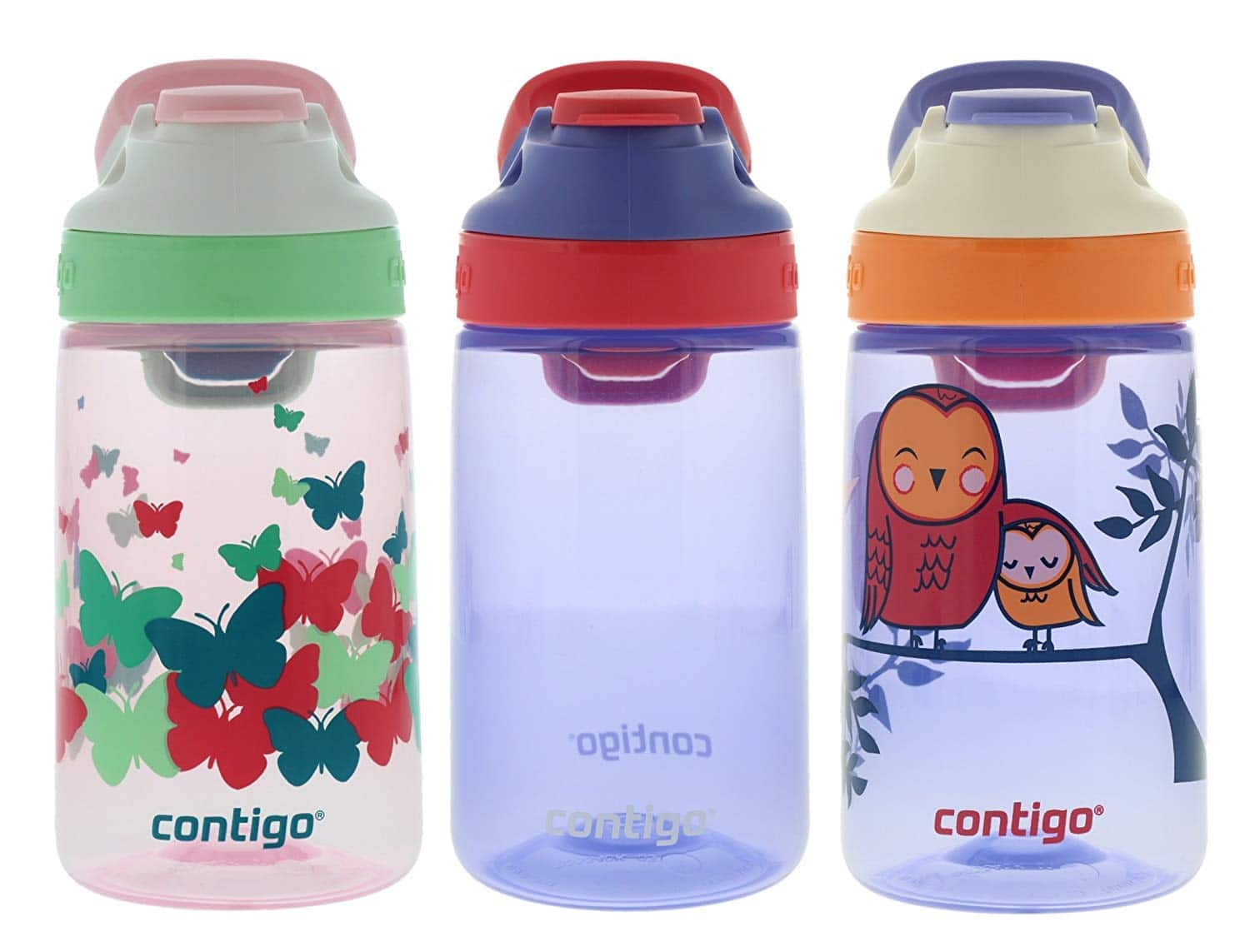 Contigo Water Bottles, 14oz Kids, Ballet/Wink/Love $12.98