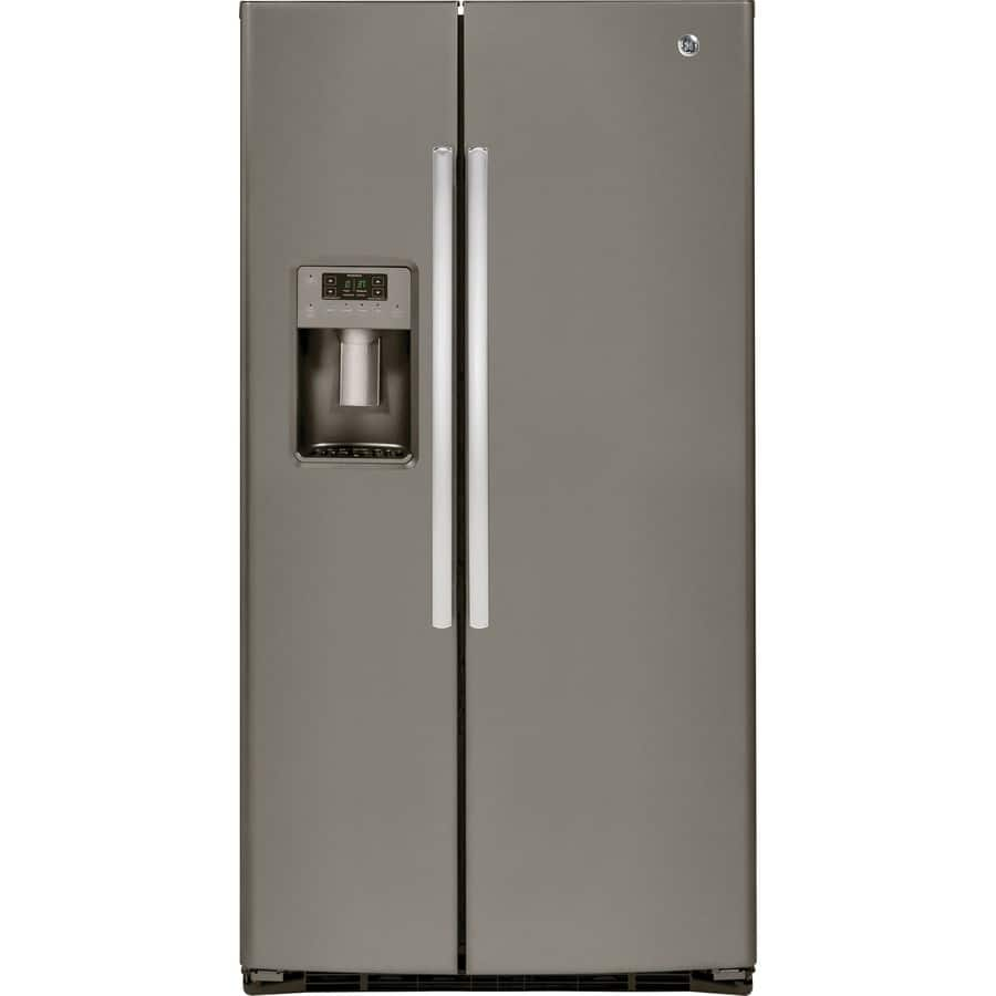 GSE25HMHES 25.4 cu. ft. Side-By-Side Refrigerator - Slate $997