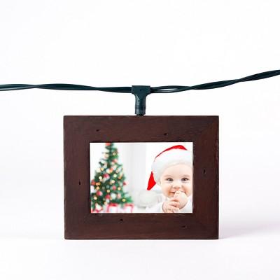 Wood Photo Frame String LED Light Boxes Candlenut - Polaroid $15