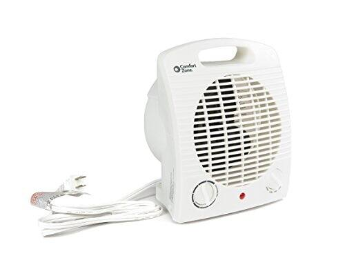Comfort Zone HBCCZ35 Heater/Fan, Compact, White $13.17