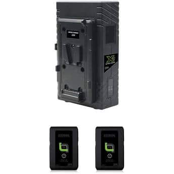 HyperCore Slim 2-Battery Kit with X2S Vertical Charger (V-Mount) $499