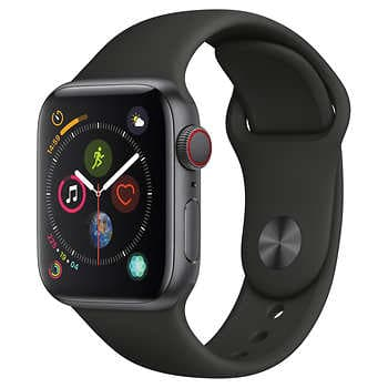 Apple Watch Series 4 GPS + Cellular with Black Sport Band - 40mm - Space Gray $430