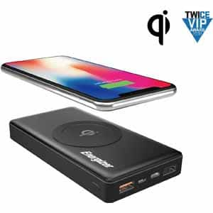 Energizer QE10000CQ Qi Wireless 10000mAh Power Bank w/USB-C PD 2.0 and Quick Charge 3.0 (Black) -With Today's promo code $18