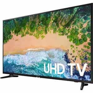 "SAMSUNG UN50NU6900-OB 50"" Class, 49.5"" Actual Smart 4K UHD TV with HDR, 120MR, Native Resolution 3840x2160 (Open Box) $269"