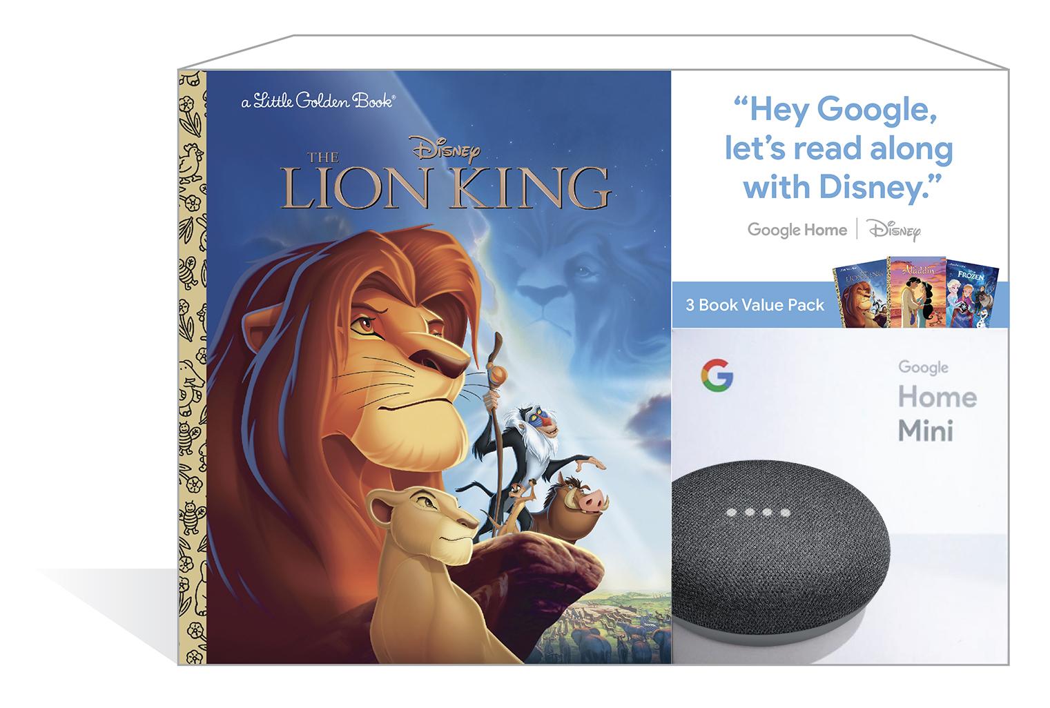 Google Home Mini (Charcoal) + 3 Disney Little Golden Book $29