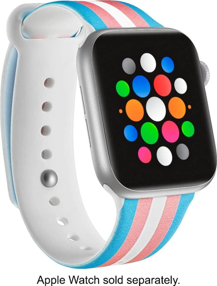 Modal™ - Active Silicone Band for Apple Watch® 42mm and 44mm - Transgender Flag Stripe $10