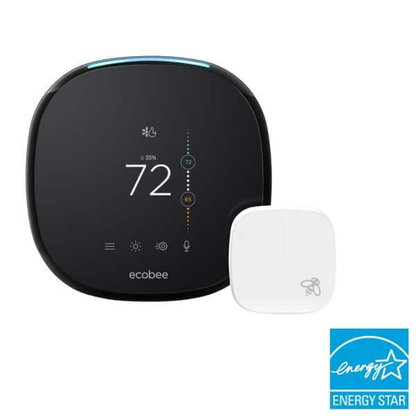 ecobee 4 Smart Thermostat with Room Sensor and Built-in Amazon Alexa $175