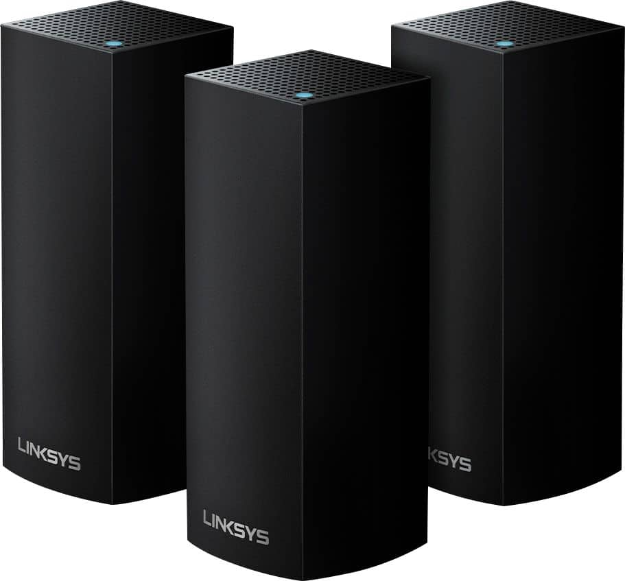 Linksys Velop Tri-Band Mesh Wi-Fi System (3 Pack) Black WHW0303B - Best Buy $380