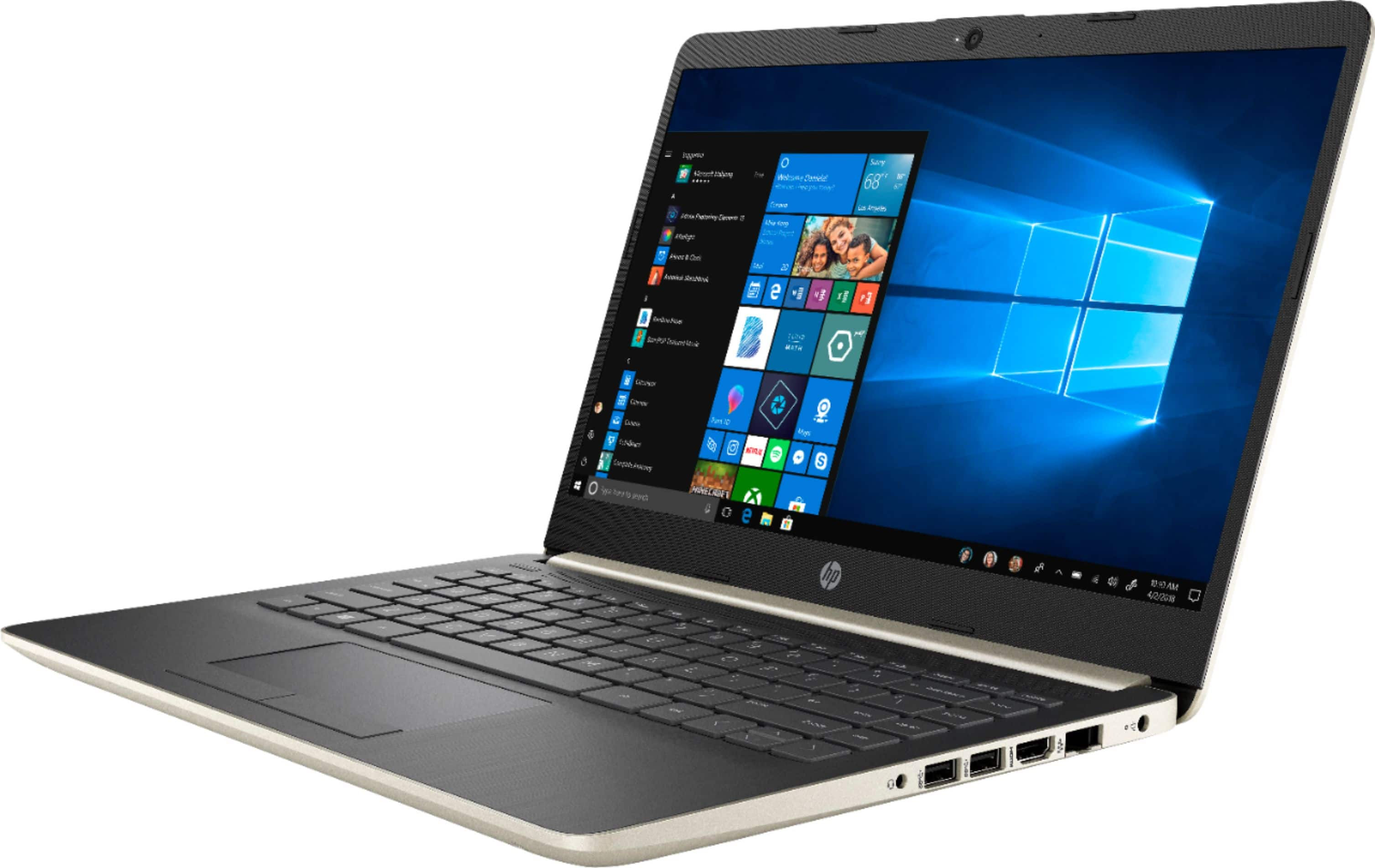 """HP 14"""" Laptop Intel Core i3 4GB Memory 128GB Solid State Drive Ash Silver Keyboard Frame 14-CF0006DX - Best Buy $280"""