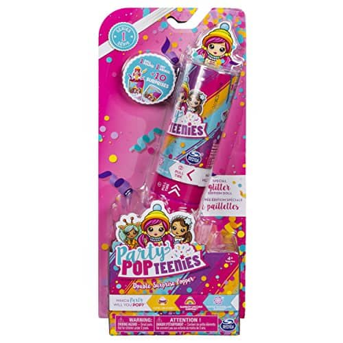Party Popteenies - Double Surprise Popper, with Confetti, Collectible Mini Doll and Accessories, for Ages 4 and Up (Styles May Vary) $2.49