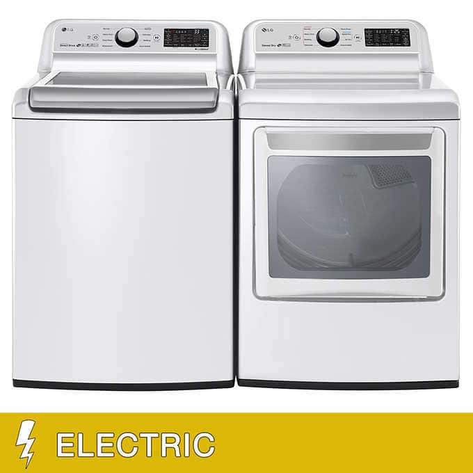 LG 5.0CuFt Washer and 7.3CuFt ELECTRIC WiFi Enabled Top Load Dryer Laundry Package $1250 @ Costco YMMV