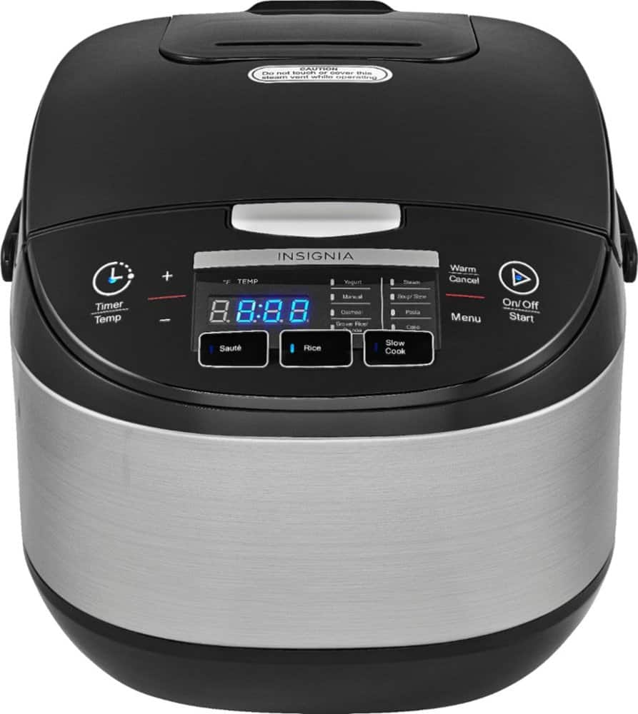 Insignia 20-cup Rice Cooker - Stainless Steel $30