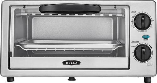 Bella 4-Slice Toaster Oven Black/silver BLA14413 - Best Buy $15
