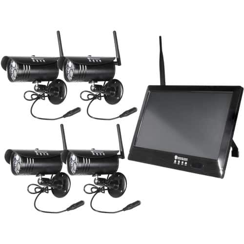 "Wireless Prime 10"" Touchscreen DVR & 4 1080p Wireless Cameras with Night Vision $299"