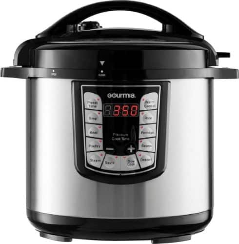 Gourmia 8-Quart Pressure Cooker Stainless steel GPC800 - Best Buy $40