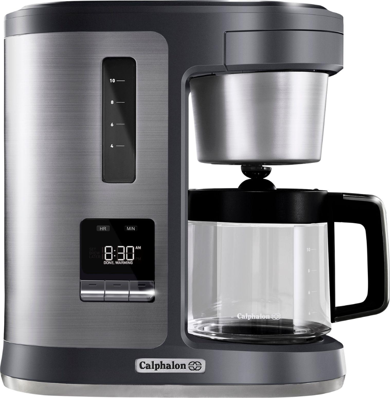 Calphalon Special Brew 10-Cup Coffee Maker Dark Stainless Steel BVCLDCG1 - Best Buy $40