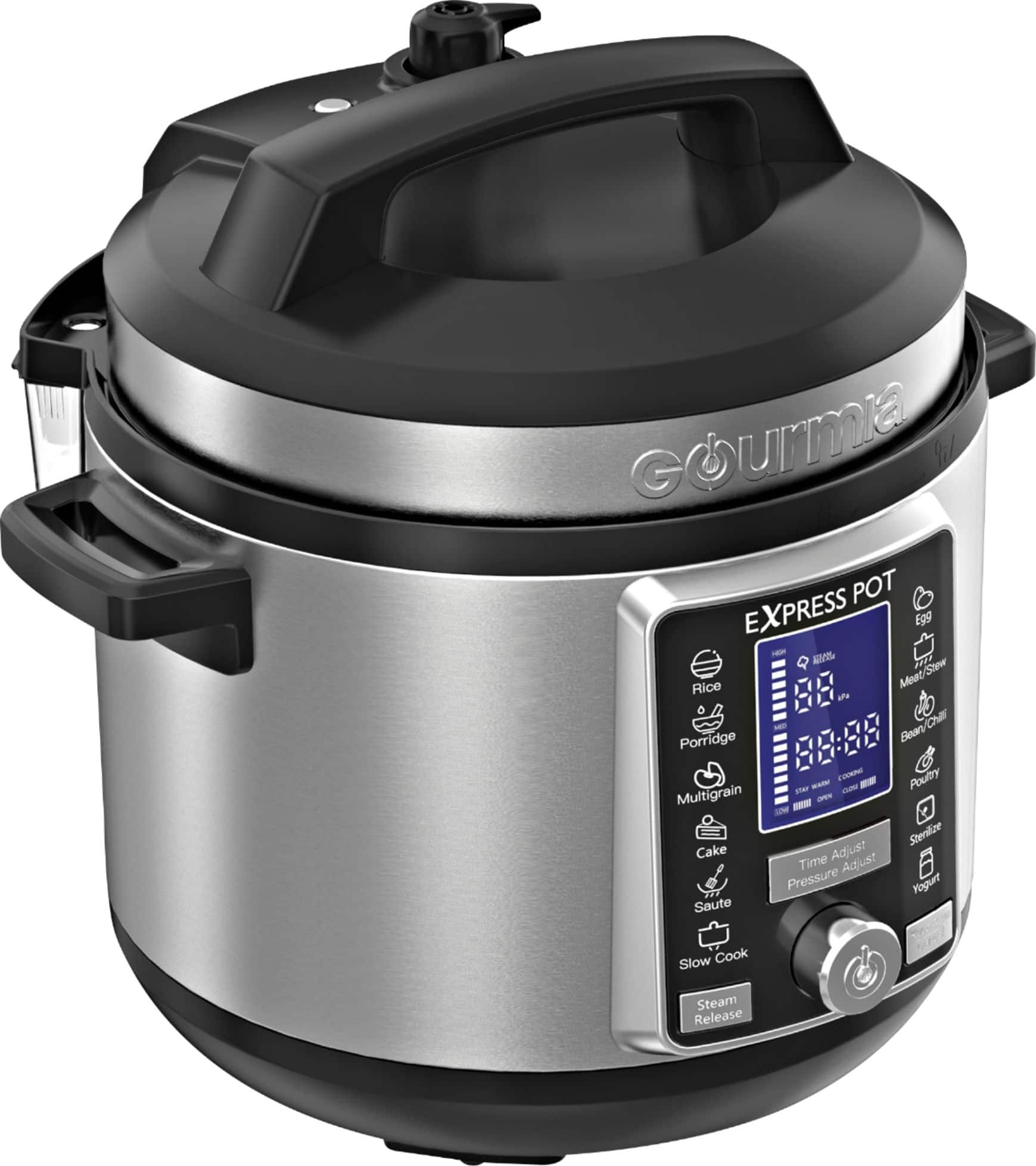 Gourmia 6-Quart Pressure Cooker with Auto Release Stainless Steel GPC965 - Best Buy $50
