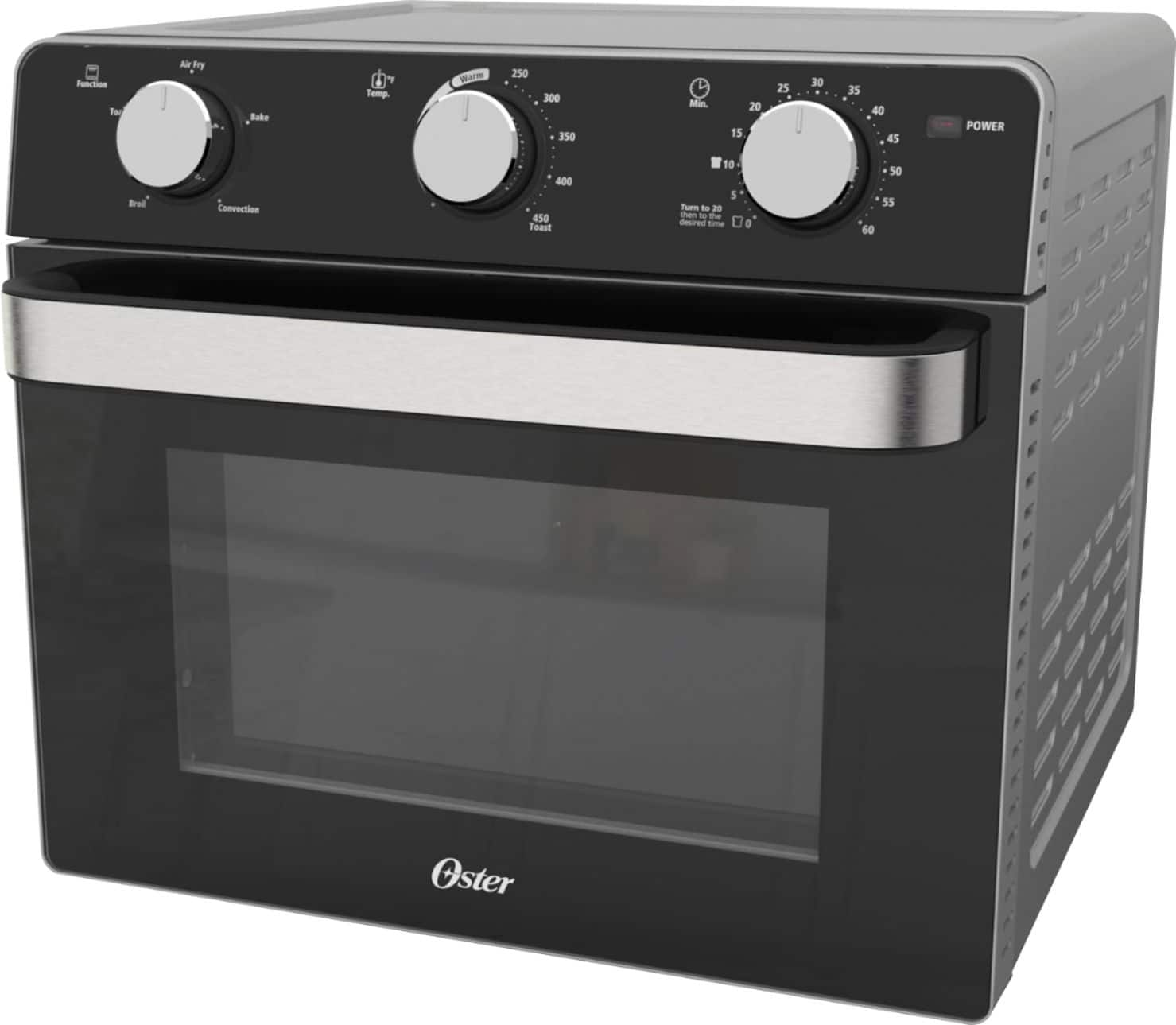 Oster - Air Fryer Toaster Oven - Black $70