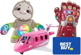 Free $25 Best Buy Gift Card when you spend $100 or more on toys, licensed merchandise or toy drones.