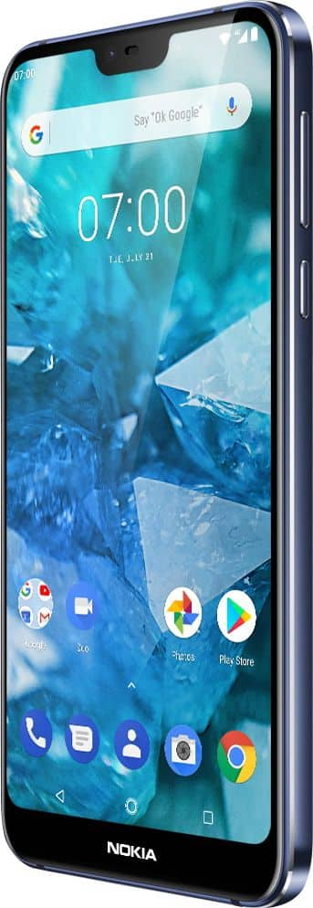 Nokia 7.1 with 64GB Memory Cell Phone (Unlocked) Blue TA-1085 BLUE - Best Buy $210