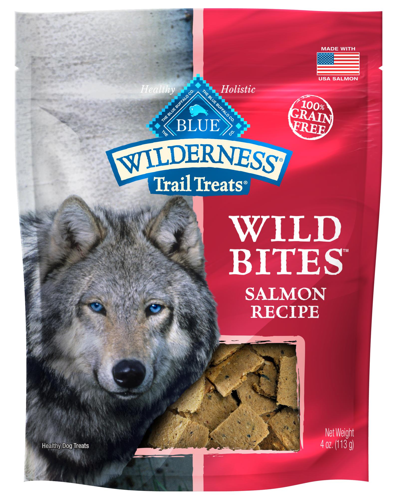 Blue Buffalo Wilderness Trail Treats Wild Bites Salmon Grain-Free Dog Treats, 4-oz bag $2.33