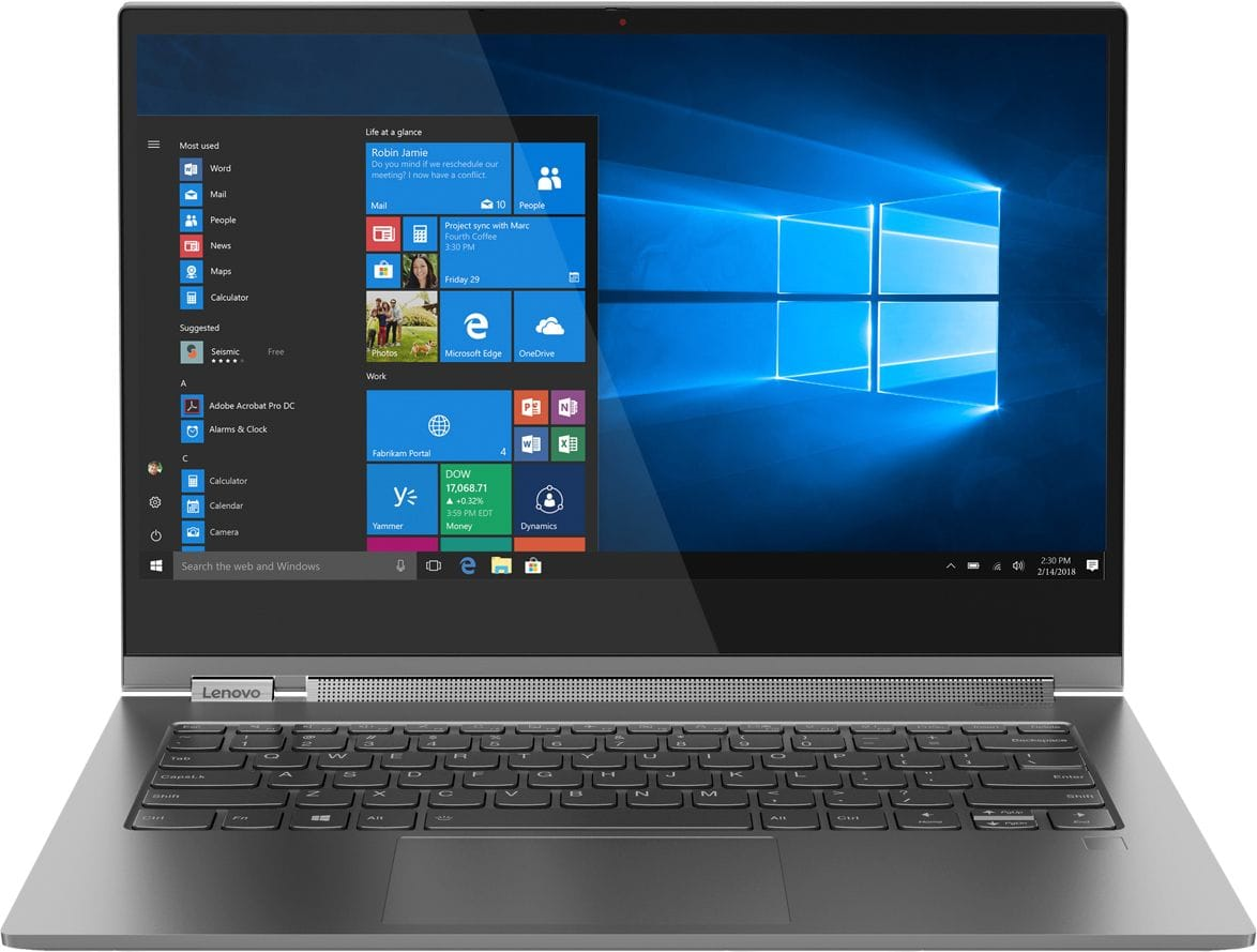 """Lenovo - Yoga C930 2-in-1 13.9"""" Touch-Screen Laptop - Intel Core i7 - 12GB Memory - 256GB Solid State Drive - Iron Gray $900"""