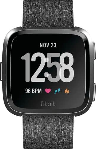 Fitbit - Versa Special Edition - Charcoal $110
