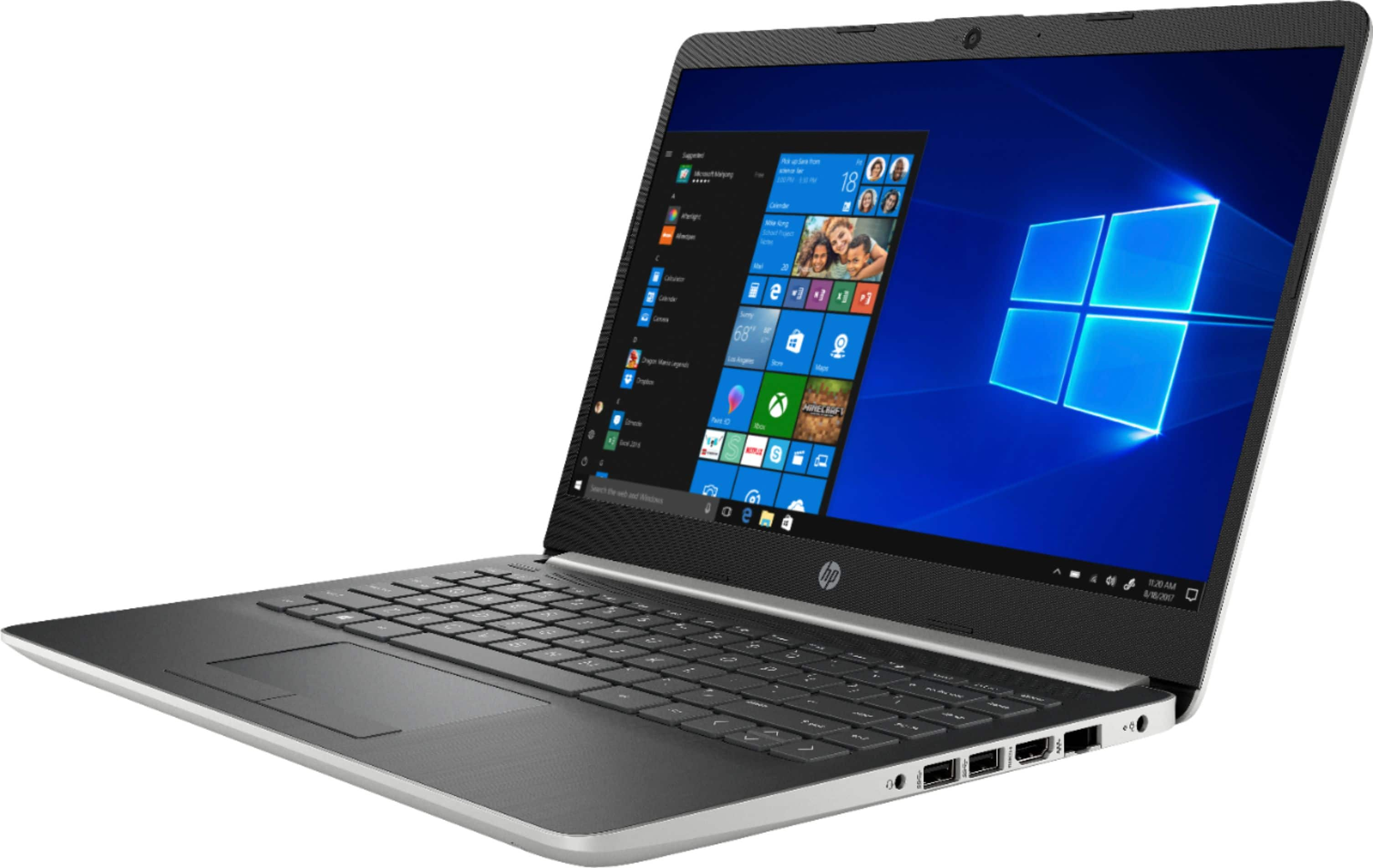 """HP - 14"""" Laptop - AMD A9-Series - 4GB Memory - AMD Radeon R5 Graphics - 128GB Solid State Drive - Ash Silver Keyboard Frame, Natural Silver $200"""