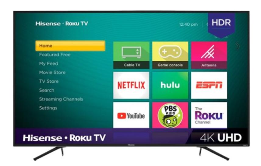 """Hisense - 55"""" Class - LED - R6070E3 Series - 2160p - Smart - 4K UHD TV with HDR - Roku TV $230"""