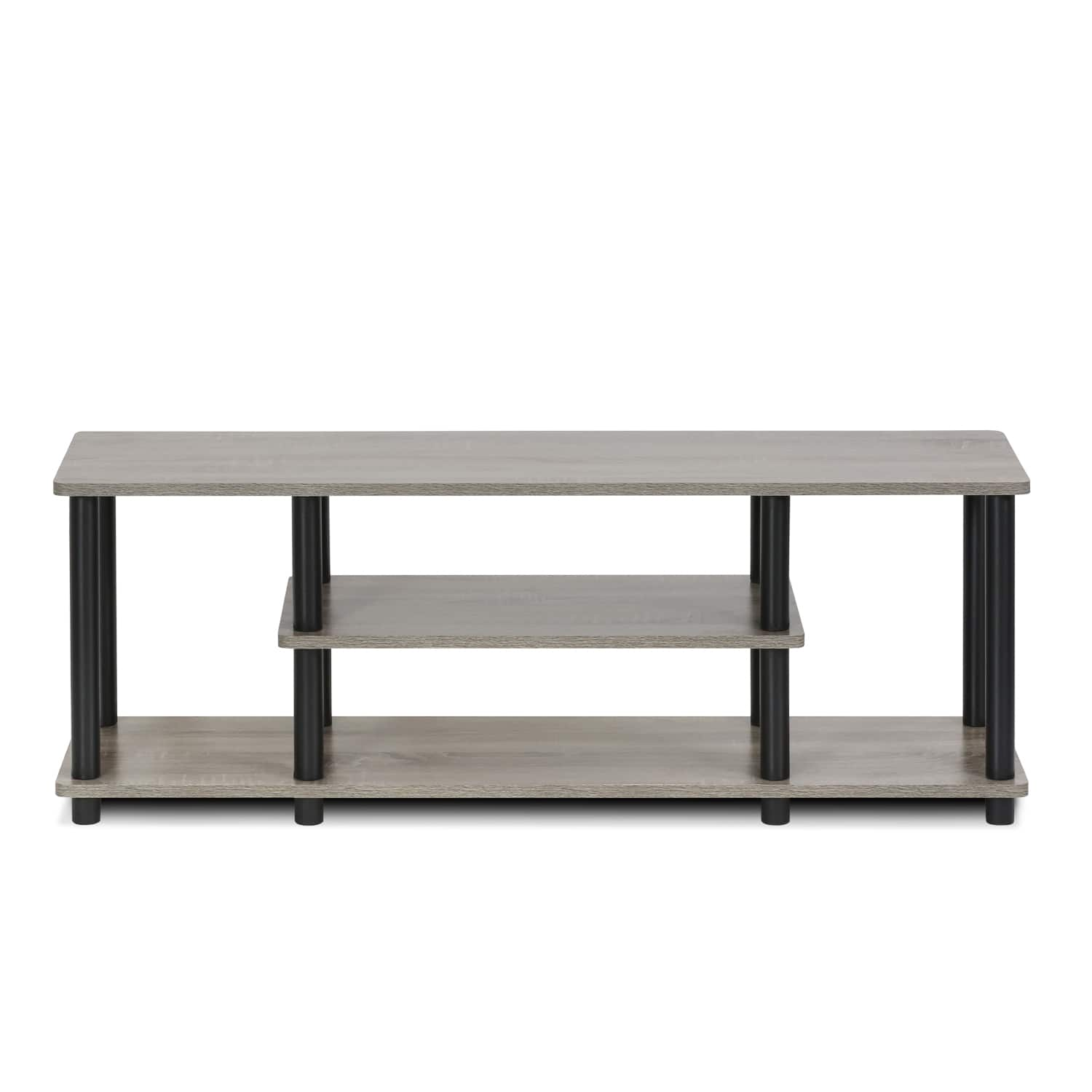 Furinno Turn-N-Tube No Tool 3-Tier Entertainment TV Stands, Multiple Colors [name: finish value: finish-gray] $32