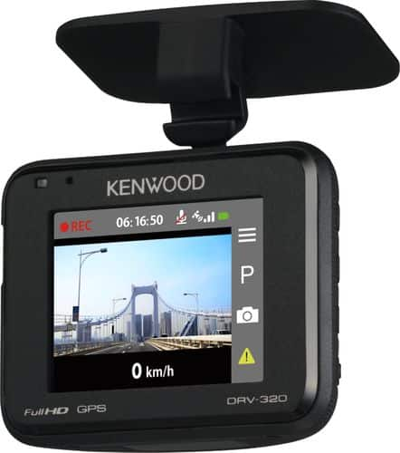 Kenwood - DRV-320 Full HD Dash Cam - Black $70