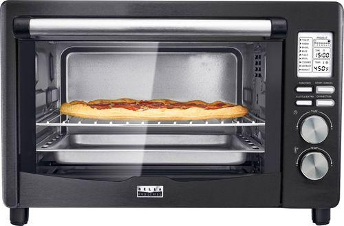 Bella - Pro Series 6-Slice Toaster Oven - Black stainless steel $60