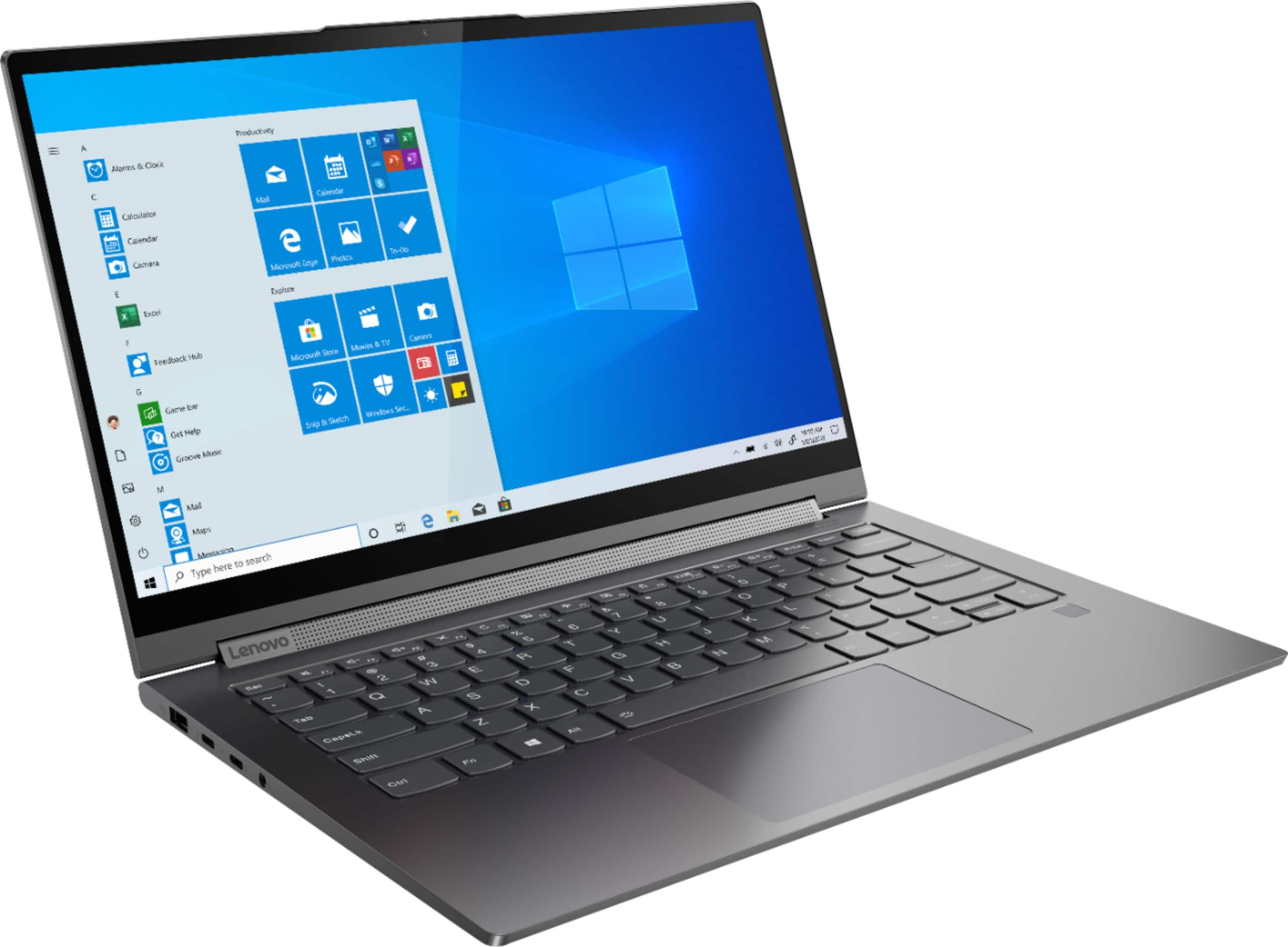 """Lenovo - Yoga C940 2-in-1 14"""" Touch-Screen Laptop - Intel Core i7 - 12GB Memory - 512GB Solid State Drive - Iron Gray $900"""