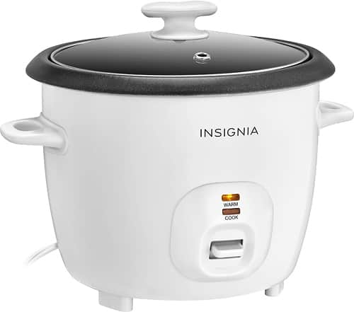 Insignia™ - 2.6-Quart Rice Cooker - White $15