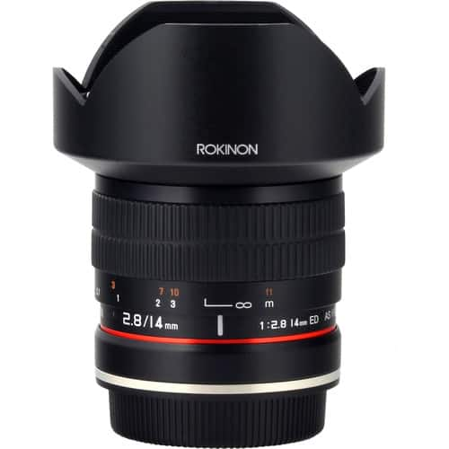 Rokinon 14mm f/2.8 IF ED UMC Lens For Canon EF with AE Chip $329
