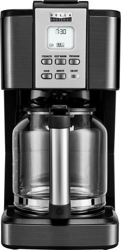 Bella - Pro Series 14-Cup Coffee Maker - Black stainless steel $30