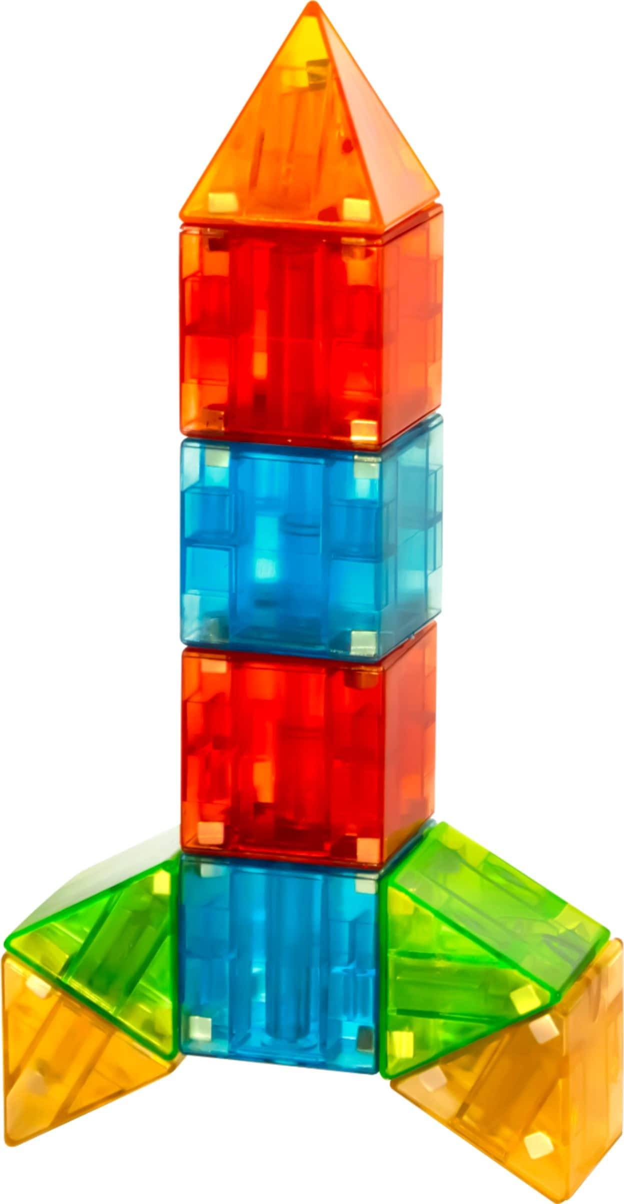 Magna-Tiles - Magna-Qubix - Red/Orange/Yellow/Green/Blue $15