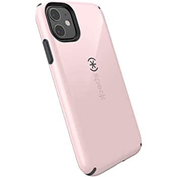 Speck CandyShell iPhone 11 Case, Quartz Pink/Slate Grey $9