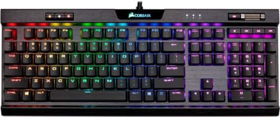 CORSAIR - K70 RGB MK.2 LOW PROFILE RAPIDFIRE Wired Gaming Mechanical CHERRY MX Speed Switch Keyboard with RGB Back Lighting (my BEST BUY member pricing) $90