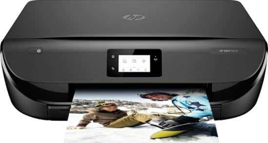 HP - ENVY 5070 Wireless All-In-One Instant Ink Ready Inkjet Printer - Black $35