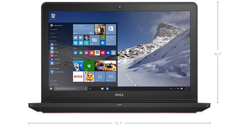 Dell Inspiron 7559 15 inch gaming laptop i7 1TB GTX 960M for $735