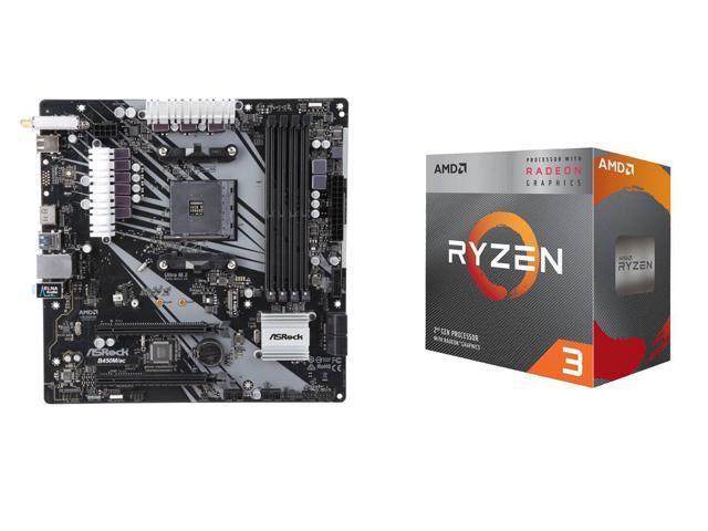 AMD RYZEN 3 3200G + ASRock B450M/AC $150