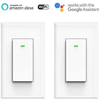 Smart Light Switch, White 2pack Compatible with Alexa and Google Home Micmi $29.39 AC + FS @ Amazon