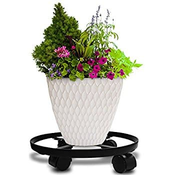 "14"" Metal Plant Caddy Iron Potted Plant Stand Amazon $9.99ac"