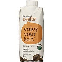 Amazon Deal: CalNaturale Svelte Organic Gluten Free Protein Drink, Cappuccino or French Vanilla, 11 Ounce (Pack of 8) - $8.28 w/S&S and coupon, (As Low As - $6.88)